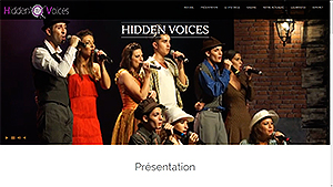 Hidden-Voices, un site visuel Responsive